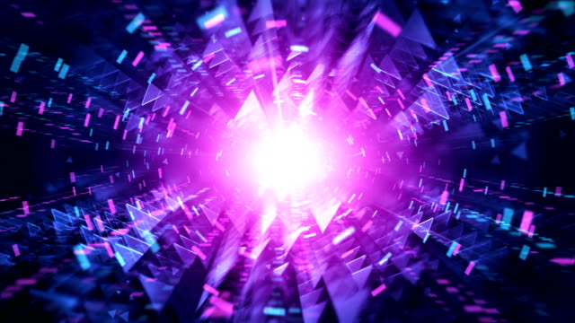 4 k futuristische tunnel hintergrund (magenta / pink, blau) - loop - cosmic abstract background with stock-videos und b-roll-filmmaterial