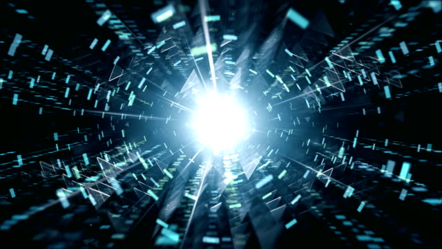 4k Futuristic Tunnel Background (Blue, Black) - Loop Animated flight through an abstract futuristic tunnel. Seamlessly loopable. Perfectly usable for a wide range of technology related topics. tunnel stock videos & royalty-free footage
