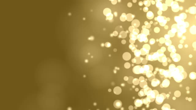4k: Gold Abstract Lights bokeh. Seamless Loop video