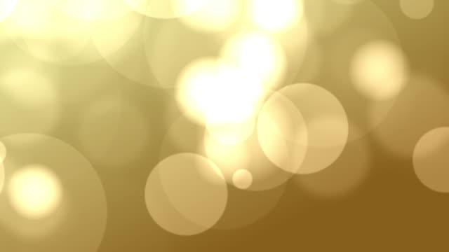 4k Gold Bokeh Animation Background Seamless Loop video