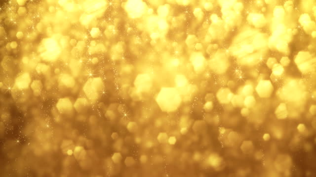 4k Gold Particles Background Animation - Loopable video