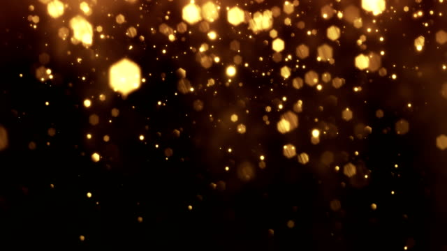 4k Gold Particles Vertical Movement - Background Animation - Loopable video