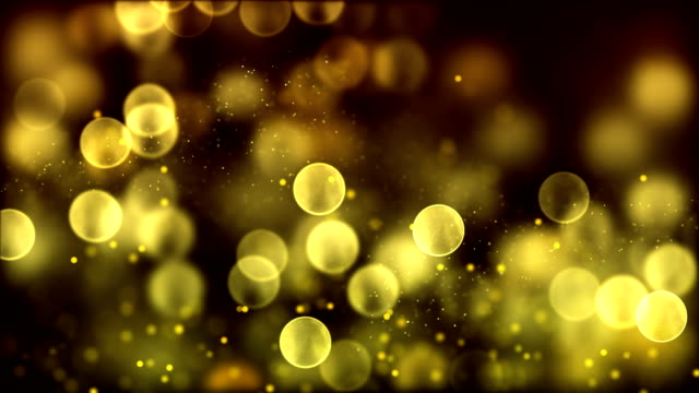 4k Golden abstract bokeh particle background. 30 seconds seamless loop. have another color. check my page video