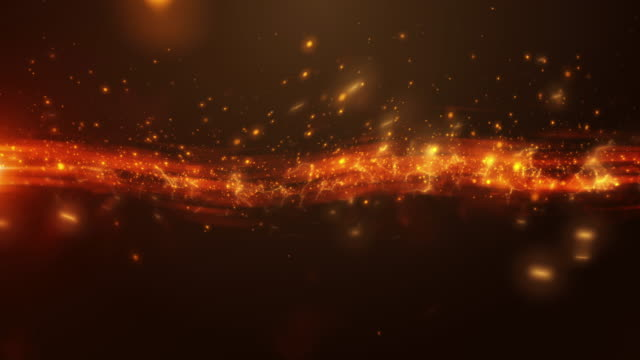 4k Golden Energy Stream Abstract Animation Background Seamless Loop. video