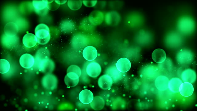 4k Green abstract bokeh particle background. 30 seconds seamless loop. have another color. check my page video