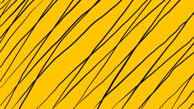 4k Hand Drawing Sketched Cartoon Pencil Lines on a Colored Background in Stop Motion Style Looped Background Video