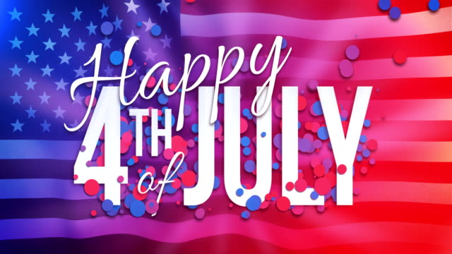 4k happy 4th of july animation - loopable - 4 luglio video stock e b–roll