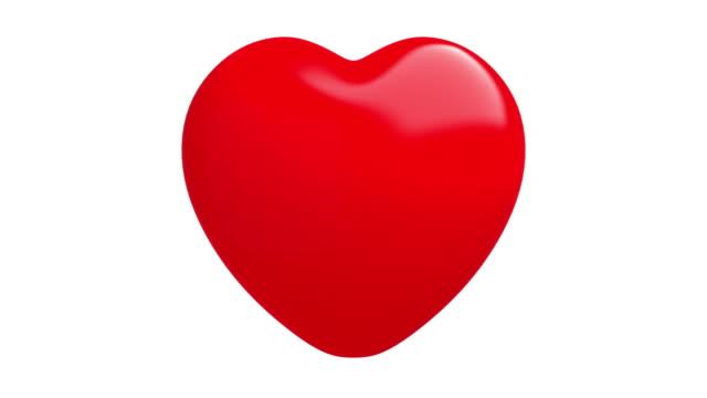 4 k の心は、ルミナンス マットとのより孤立した 2 ビート - 心臓点の映像素材/bロール