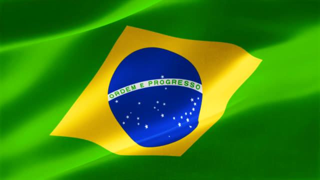 4 k emblema altamente detalhados do Brasil - vídeo