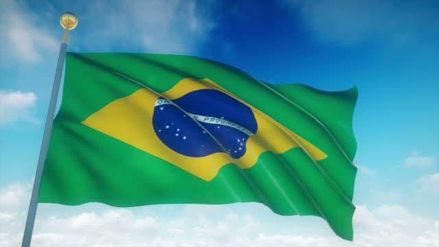4 k altamente detalhadas bandeira do Brasil Loopable - vídeo