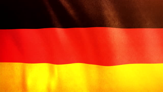 4k Highly Detailed Flag Of Germany - Loopable video