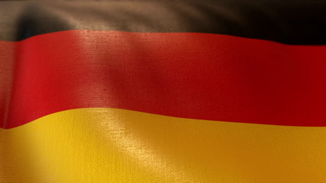 4k Highly Detailed Flag Of Germany video