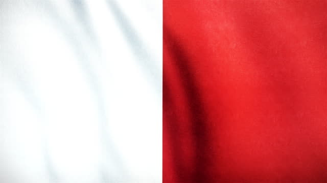 4k Highly Detailed Flag Of Malta - Loopable video