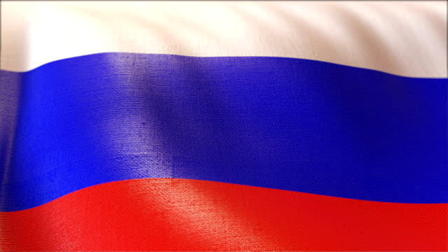 4k Highly Detailed Flag Of Russia video