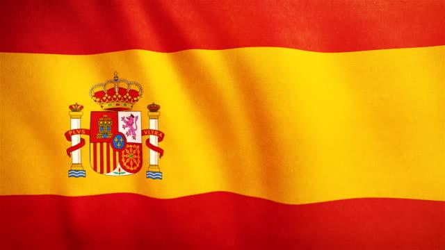 4 k hochdetaillierte flagge von spanien - endlos wiederholbar - spanien stock-videos und b-roll-filmmaterial