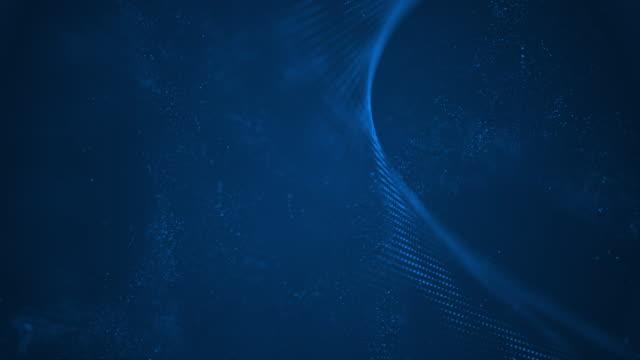 4k highly detailed particle stream - loop (dark blue) stock video - golden ratio стоковые видео и кадры b-roll
