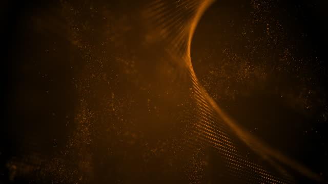 4k highly detailed particle stream - loop (bronze) stock video - golden ratio стоковые видео и кадры b-roll