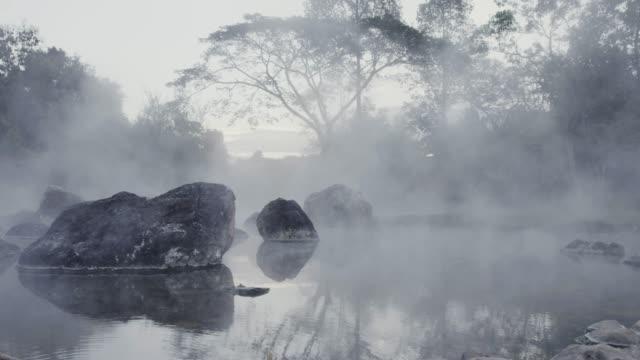 4k , Hot spring water видео