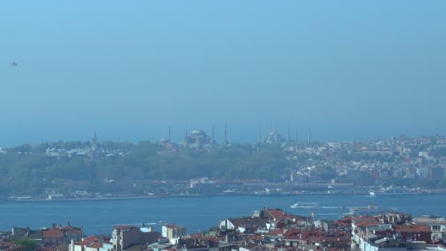 4k Istanbul Bosphorus - Hagia Sophia and Topkapı Palace Aerial View video