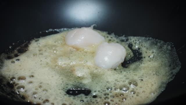4k Italian Food, Scallops Frying in Butter video