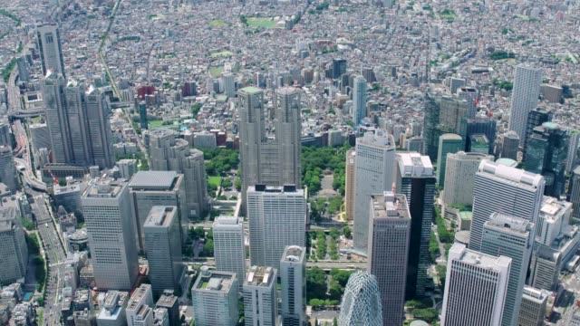 4k japan antenn antenn i tokyo, japan - odaiba kaihin koen bildbanksvideor och videomaterial från bakom kulisserna