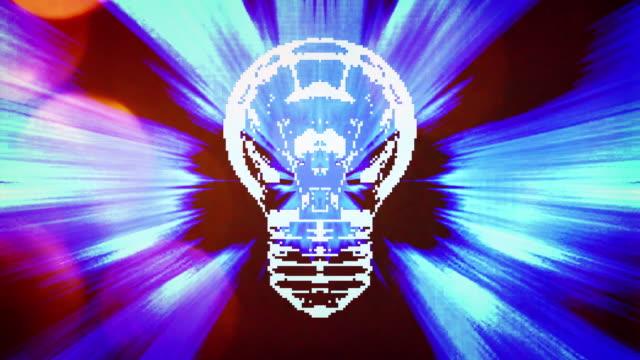 4k light bulb brainstorming innovation idea concept