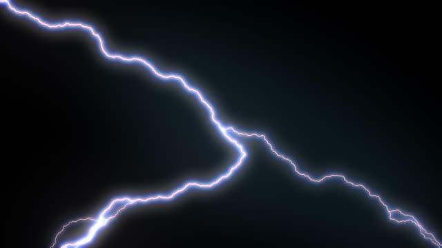 4 k oświetlenie strajk opakowań animacja, niebieski kolor. - lightning filmów i materiałów b-roll
