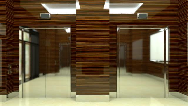 4k. lobby entrance in a business center - hotel reception filmów i materiałów b-roll