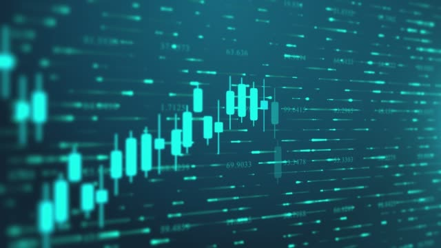 4k loop financial chart background footage stock video