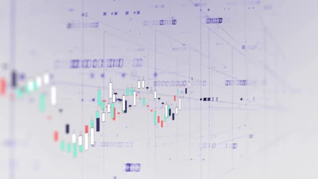vídeos de stock e filmes b-roll de 4k loop financial chart background  footage - circular economy