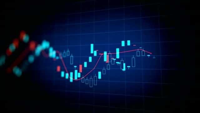 vídeos y material grabado en eventos de stock de 4 imágenes de fondo k lazo financiero gráfico - tabla medios visuales