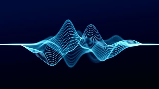 4kループ可能 - 抽象波線 - 音波点の映像素材/bロール