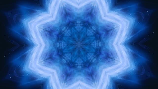 4k looping film. omvandla prydnadsväxter vintage mosaik konst blomma. abstrakt esoteriska kosmiska mandala. den spirande lotusblomman. - loopad bild bildbanksvideor och videomaterial från bakom kulisserna