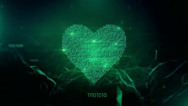 4 k liebe und technik (grün) - loop - online dating stock-videos und b-roll-filmmaterial