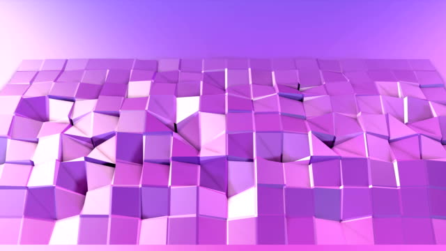 4k low poly background animation in loop. Seamless 3d animation in modern geometric low poly style with gradient colors. Creative simple background. V2 violet plane with copy space video