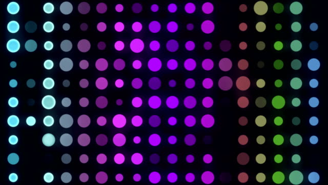 4k 多色 led サークルライト-無限ループ - 斑点点の映像素材/bロール