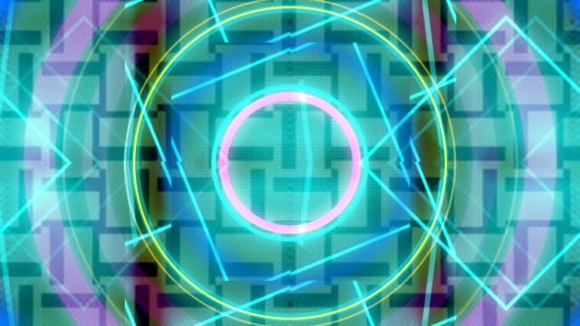4 k 音楽抽象アニメーション イベントの背景をループ - 輪点の映像素材/bロール