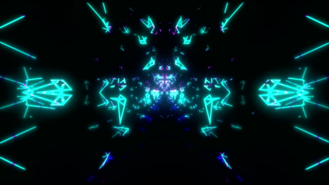 4k Neon Cybertech VJ Loop