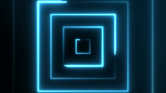 4k Neon Square lights background seamless loop