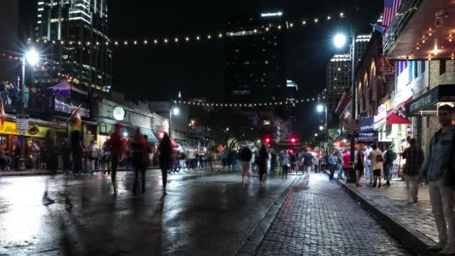 UHD 4k Night Time Lapse Austin, Texas USA video