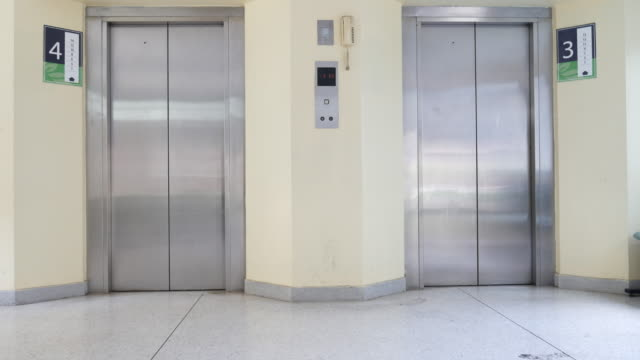 4 k : Eröffnung Fahrstuhl Türen – Video