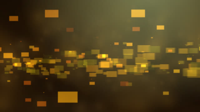 4k Orange Gold Abstract tech background