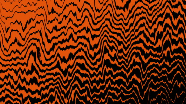 4k Orange Tiger Wave Line Movement Animation Background Seamless Loop. video