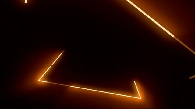 4 k 주황색 삼각형 추상 콘서트 배경 - 주황색 스톡 비디오 및 b-롤 화면
