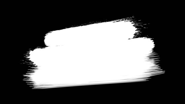 Video 4k Paint Brush Wipe On and Off Transition - Video transition effect of paint brush strokes wiping from left to right. Ink Brush Strok. Chroma key, Alpha Channel (Transparency)
