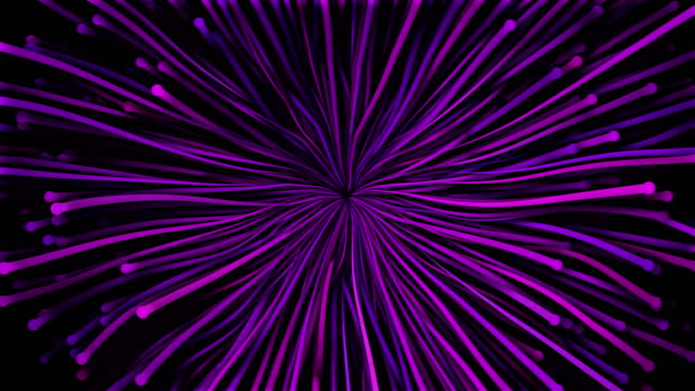 4k particle waves intro - abstract flower - viola colore video stock e b–roll