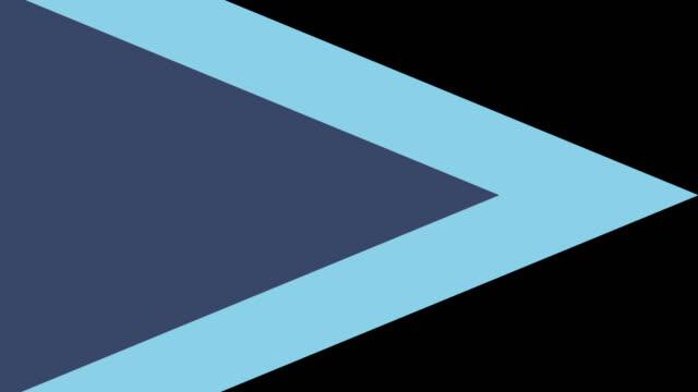 4k Pastel Blue Triangle Transition video