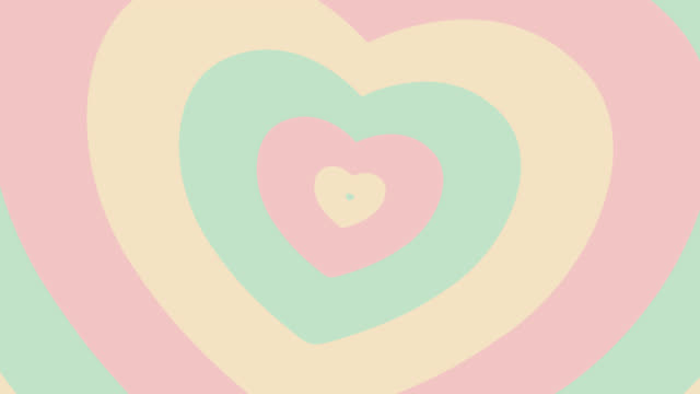 4k : Pastel Heart Animated Background video
