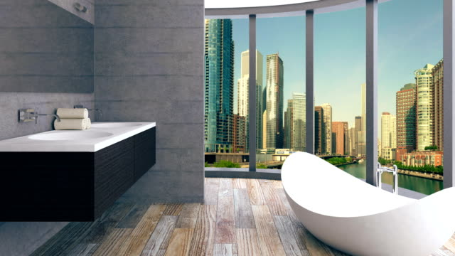 4k. Penthouse Apartment. Hygiene items. video