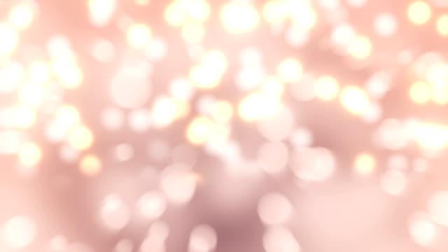 vídeos de stock e filmes b-roll de 4k pink bokeh abstract light background - glow